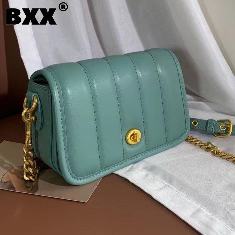 [BXX] Woman New Causal Chains Quality PU Leather Personality All-match Mini Crossbody Shoulder Bag Fashion Tide 2021 GF0734