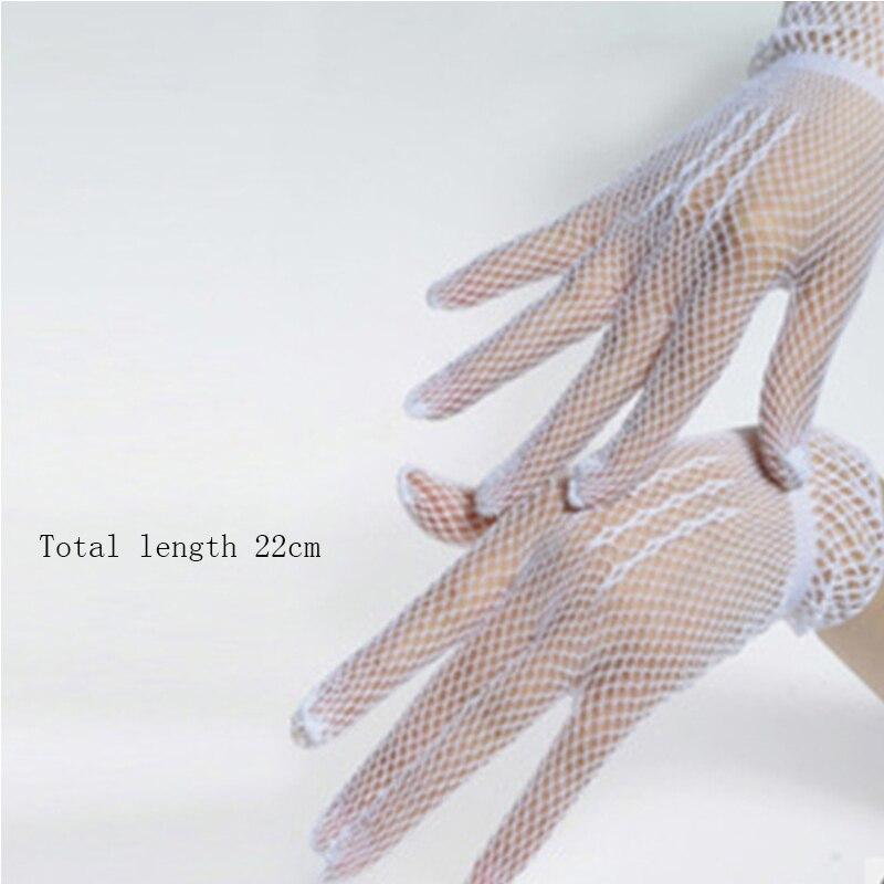 Женские перчатки для рыбалки, длинные перчатки в стиле панк и готика, женские сетчатые перчатки без пальцев, однотонные перчатки
