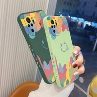 watercolor soft case for xiaomi redmi note 10 10s 9t 9 8 7 pro max redmi 9 9a 9t k40 k30 k20 pro liquid silicone phone cover