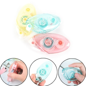 1pc Candy Funny Students Children Supplies White Shaped Correction Tape