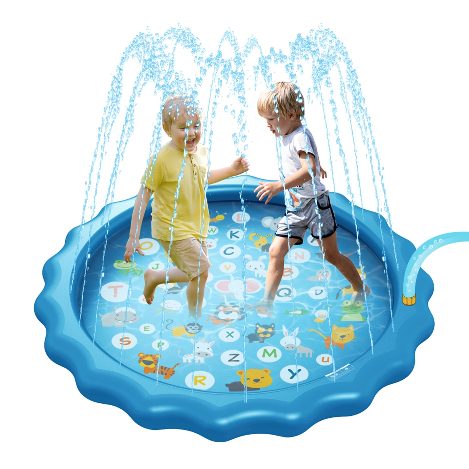 170 سنتيمتر الأبجدية الأطفال رذاذ الماء حصيرة بولي كلوريد الفينيل نفخ سبلاش حصيرة في الهواء الطلق الحديقة تلعب حصيرة المياه الرش