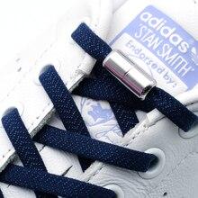 مرونة لا التعادل أربطة حذاء مسطح أربطة أحذية للأطفال والكبار أحذية رياضية ل رباط الحذاء ارتداء سريع كسول قفل معدني الأربطة الأحذية سلاسل