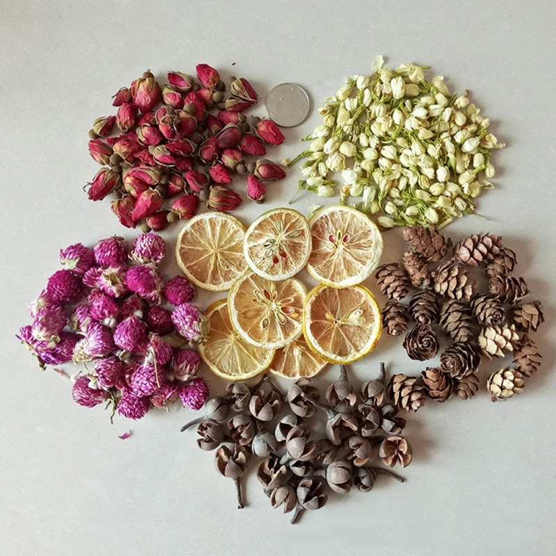 Candle Decoration Dried Flowers Leaf Candle Petal DIY Making Material Aromatherapy Pure Soy Wax Natural Ingredients