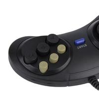 Классический проводной 6 кнопок Ручка джойстика игровой контроллер для SEGA MD2 PC Mega Drive игровые аксессуары универсальный пульт дистанционного...