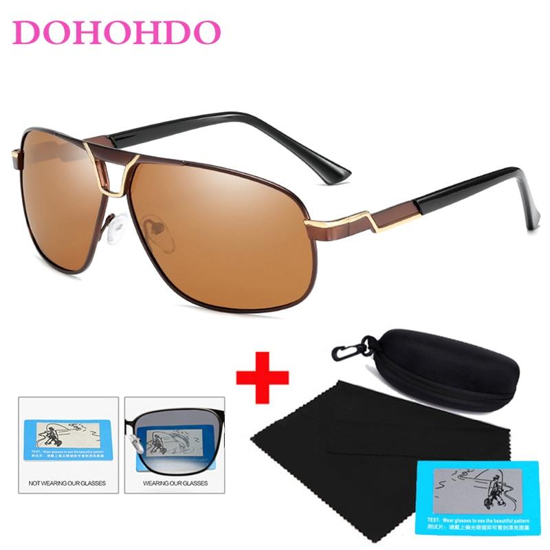 New Polarized Men Sunglasses UV400 Classic Pilot Driving Sun Glasses Male Vintage Metal Frame Mirror