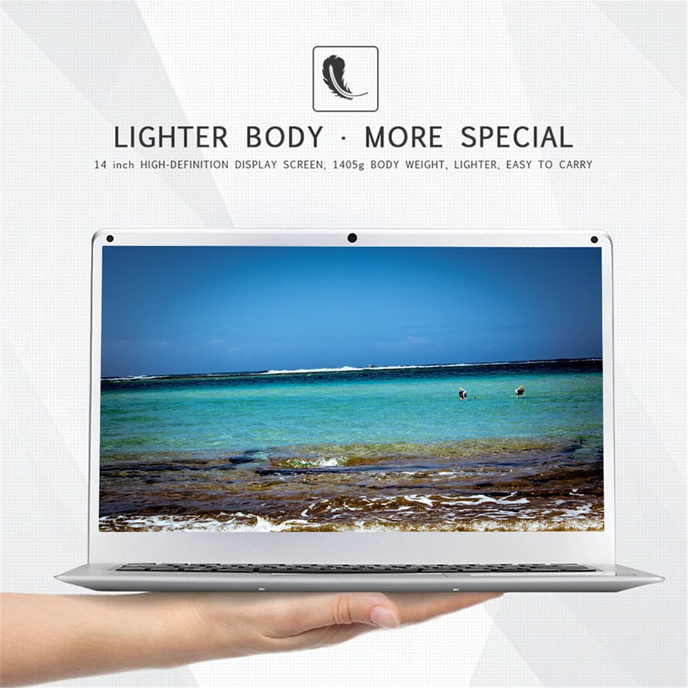 J3355 Laptop 14 Inch LCD Screen 1080p HD Ultrathin Light Notebook Computer With 6+64G Memory HDD Support Windows 10