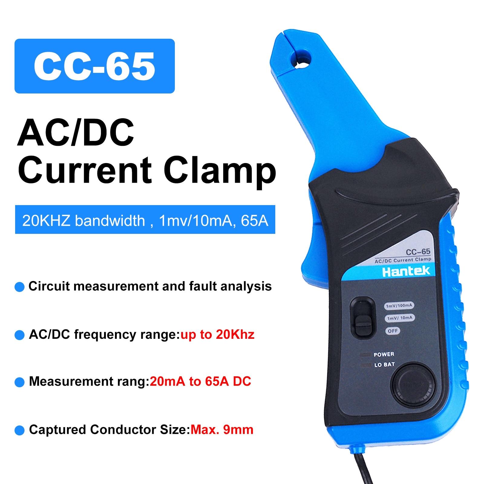 Hantek CC-65 AC/DC الحالي المشبك الرقمية المتر مع BNC موصل l CC65