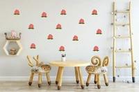 Trois Ratels 21 pieces Fruits doux peche Q2walll autocollant pour chambres decoration bricolage resistance a la decoloration pour la maison chambre decor