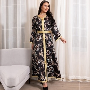 African Long Maxi Dresses For Women Long Sleeve Evening Gowns Muslim Fashion Abaya 2021 New Party Ankara Attire Africa Clothing