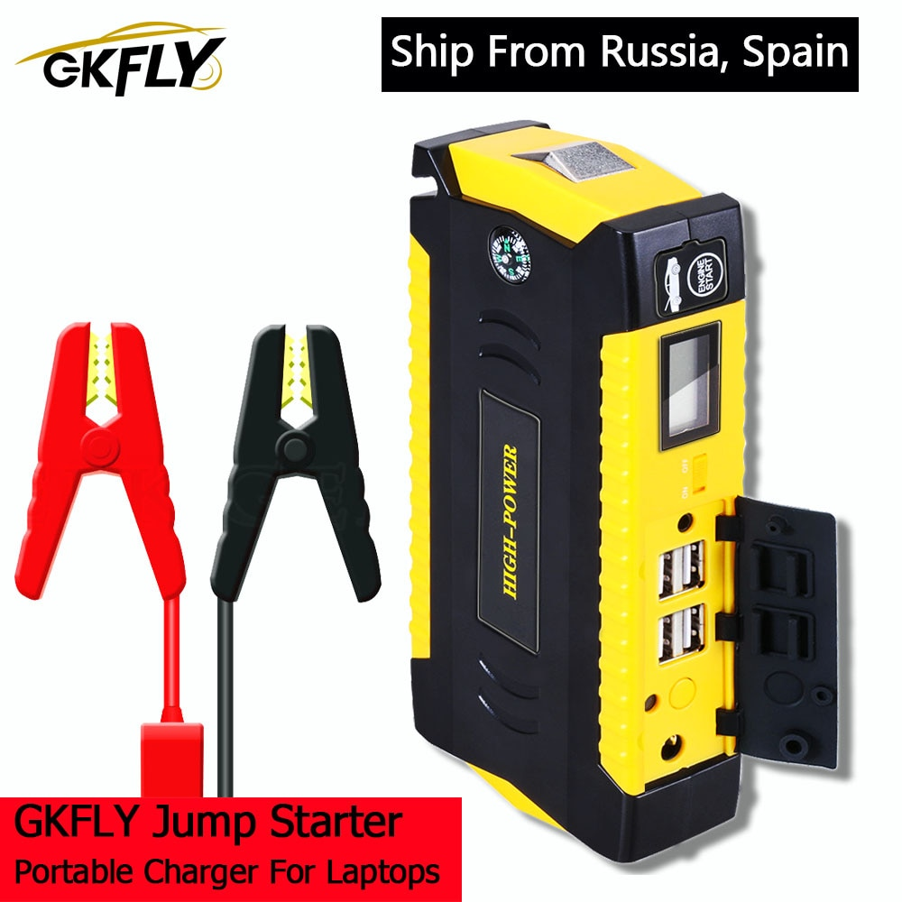 GKFLY Car Jump Starter Power Bank Portable Car Battery Booster Charger 12V Starting Device Petrol Di