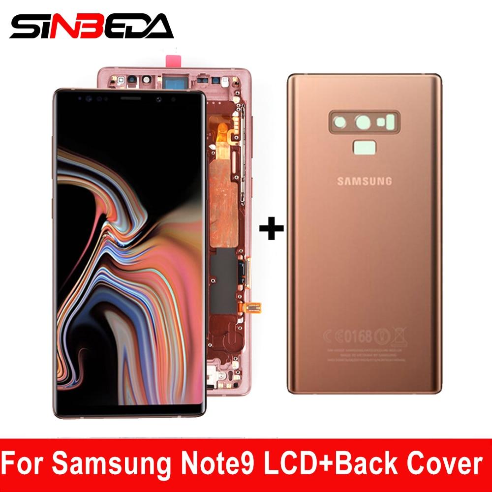 سوبر AMOLED 6.4 ''LCD عرض لسامسونج غالاكسي نوت 9 N960 N960F LCD تعمل باللمس محول الأرقام الجمعية إصلاح مع الزجاج الخلفي