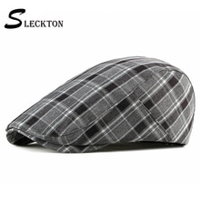 SLECKTON Czapka Fashion Plaid Beret Hat for Men Casual Newsboy Caps France Flat Cap Unisex Gorras Gorras Hombre Chapeau Kapelusz