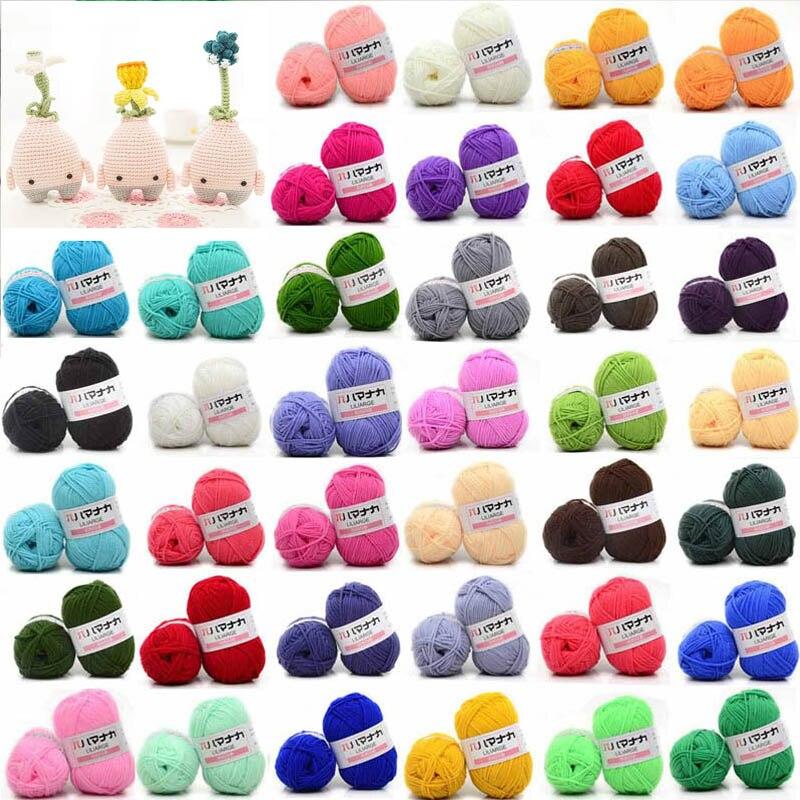 25g/Bola de hilo de algodón de leche cómodo hilo de mezcla de lana ropa de coser hilo de tejer a mano bufanda sombrero hilo de tejer crochet