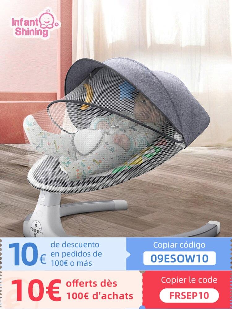 Детское кресло-качалка, умное детское кресло-качалка, электрическая детская люлька, кресло-качалка, детское кресло-качалка для новорожденн...