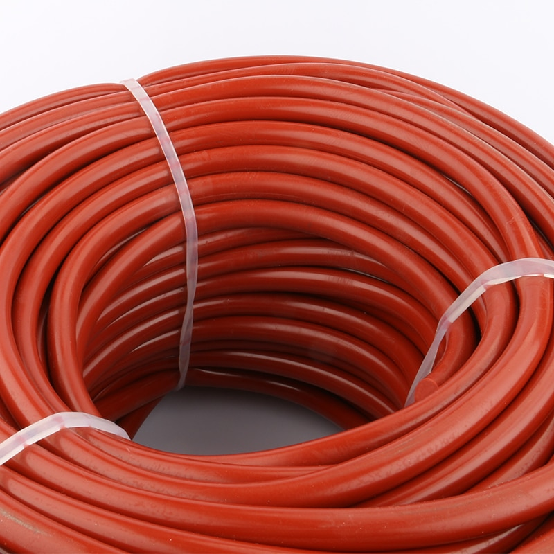قضيب سيليكون مطاطي أحمر قطر 12 مللي متر, حبل سيليكون