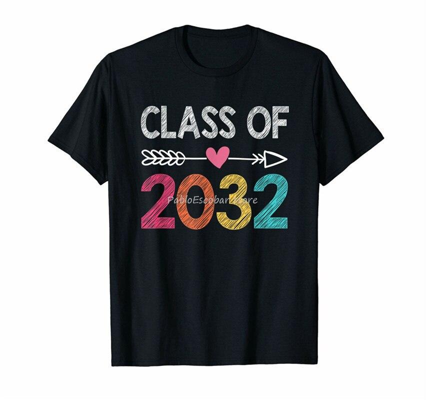 Camiseta de algodón para hombres, nueva camiseta de clase de 2032 para hombre, camiseta de graduación de pregrado, camiseta Casual presente