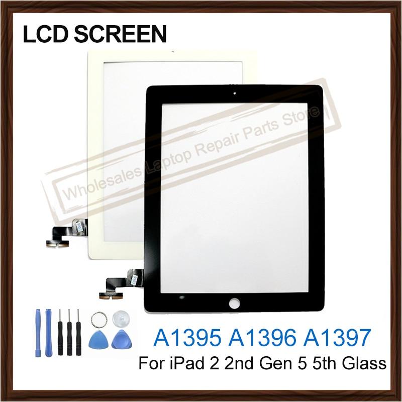 "7,9 ""para iPad 2 2ª generación A1395 A1396 A1397 LCD pantalla táctil externa digitalizador reemplazo de Panel de vidrio frontal probado"