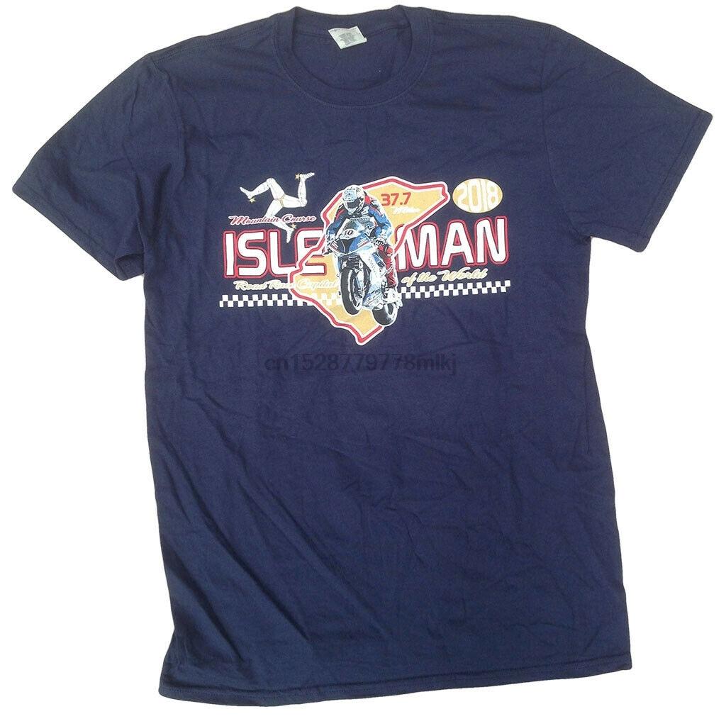 Isle Of Man Oim Montagne, camiseta de curso, Moto Motard, automóvil deportivo