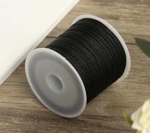 50M/Spool 0.8mm Black Color Cotton Cord Nylon Cord Thread String DIY Beading Braided Bracelet Jewelry Making