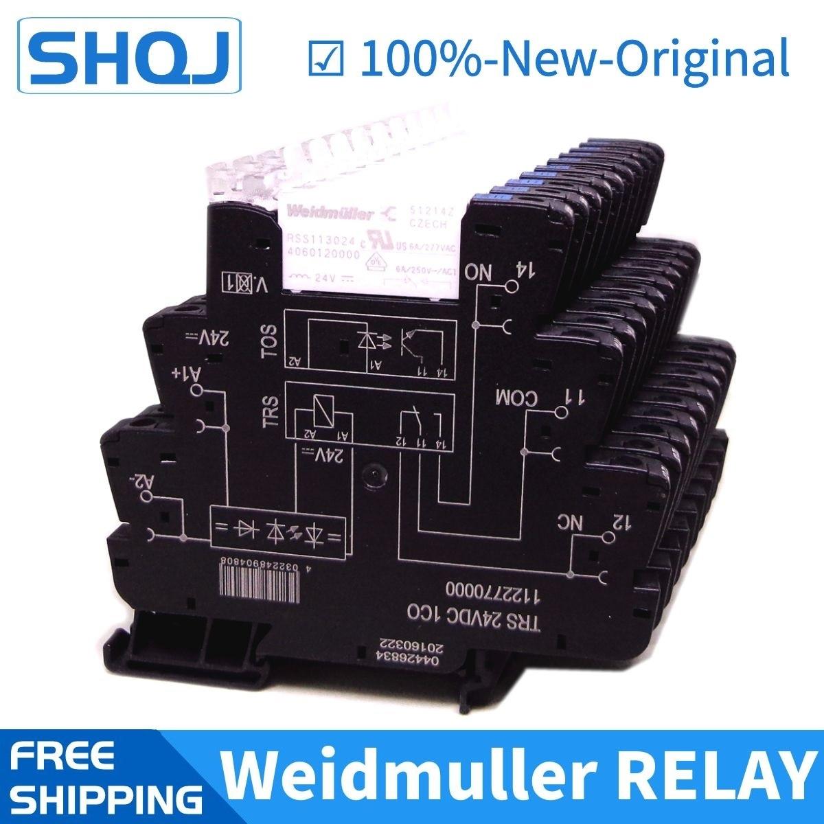 5 قطعة Weidmuller سليم التتابع TRS 24VDC 1CO 1122770000 A6 العلامة التجارية الجديدة والأصلية شريحة التتابع