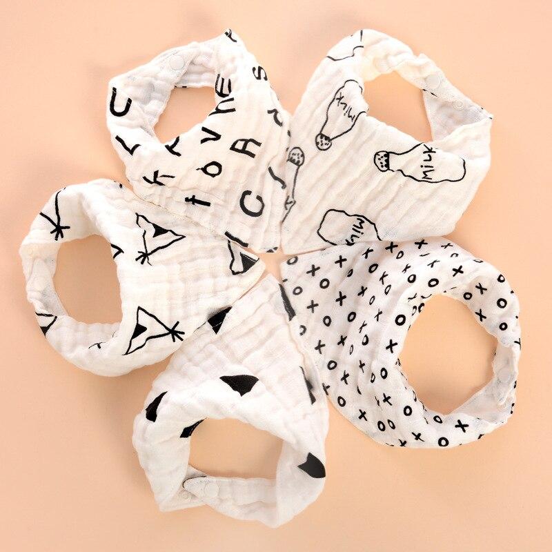 Baby Bibs Boy Girl Gauze Water Absorb Bib Burp Cloth Triangle Cotton Baby Scarf Burp Baby Christmas Accessories