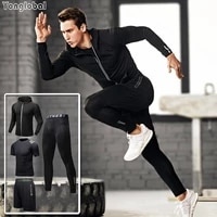 mens running jogging sets tracksuit sportswear training sweat suits sports homme workout winter compression for fitness joggers