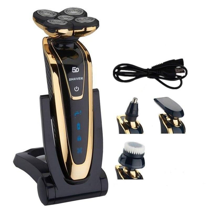 TFLYSHAVE 5D de afeitar para hombres máquina de afeitar eléctrica recargable cuerpo Facial máquina de afeitar de pelo de barba Trimme