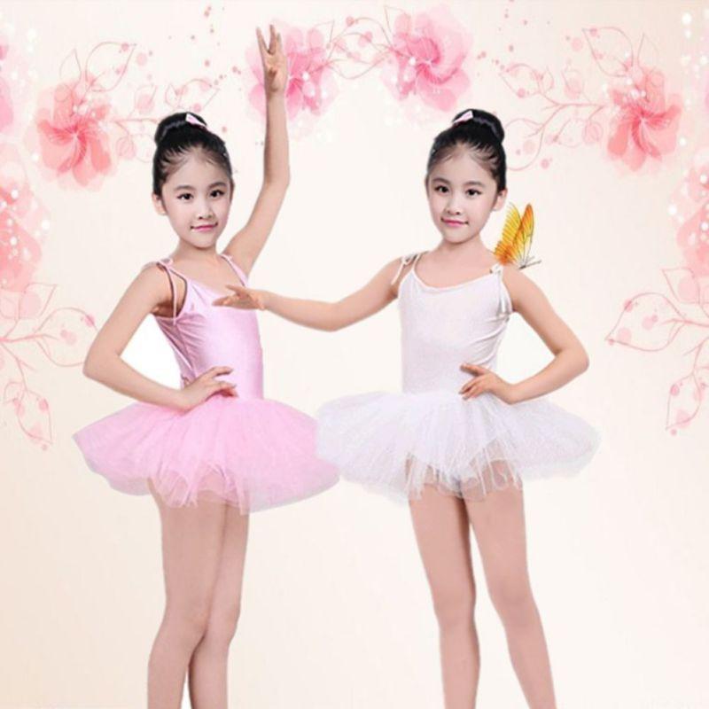 Детский балетный костюм для маленьких девочек, танцевальное платье, гимнастическое трико для катания на коньках, костюмы, 4 цвета, одежда дл...