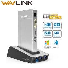 Wavlink usb 3.0 Universal Docking Station dual video HDD & SSD Gehäuse Basis unterstützung dvi/hdmi/vga zu externe grafiken ethernet