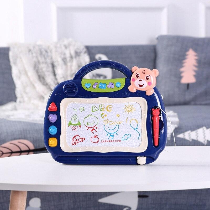 Магнитная доска для рисования, планшет для рисования, доска для рисования с музыкой для детей, скетч-подставка для малышей, подарки