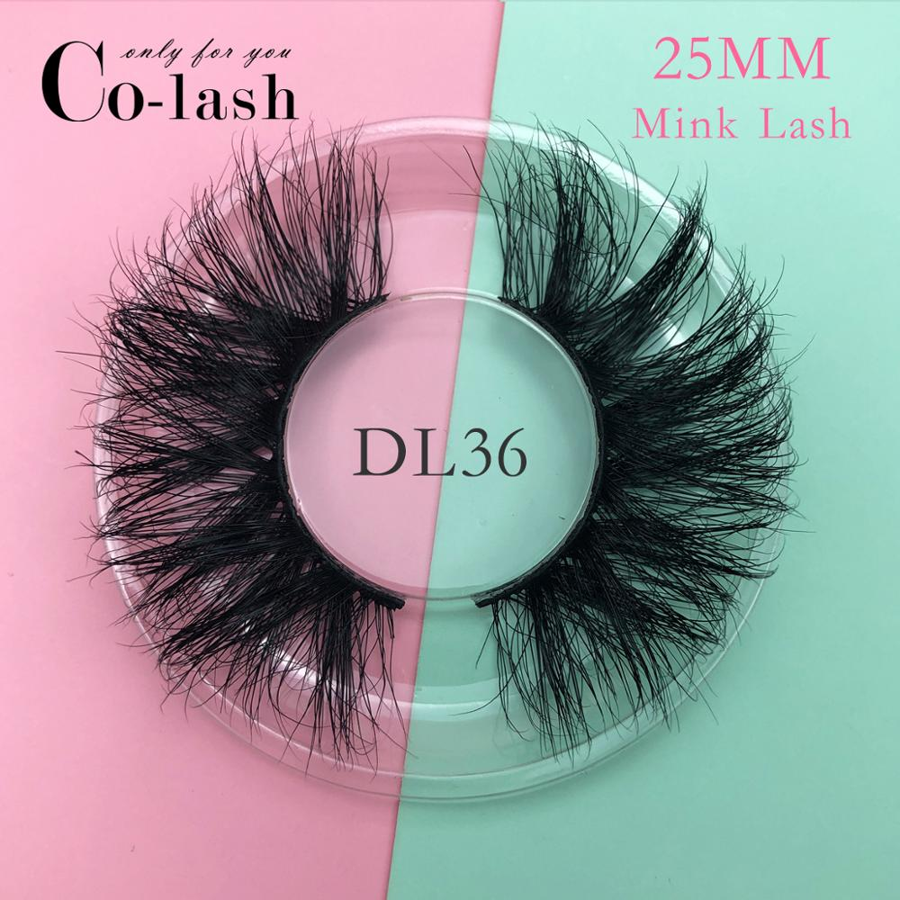 Colash 25mm 100% handmade natural thick Eye lashes wispy makeup extention tools 3D mink hair volume