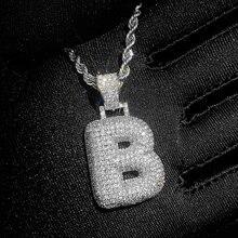 """Huitan Luxe Brief """"A-Z"""" Hangende Ketting Hiphop Man Volledige Verharde Shiny Cz Stones Delicate Anniversary Gift Mode-sieraden"""