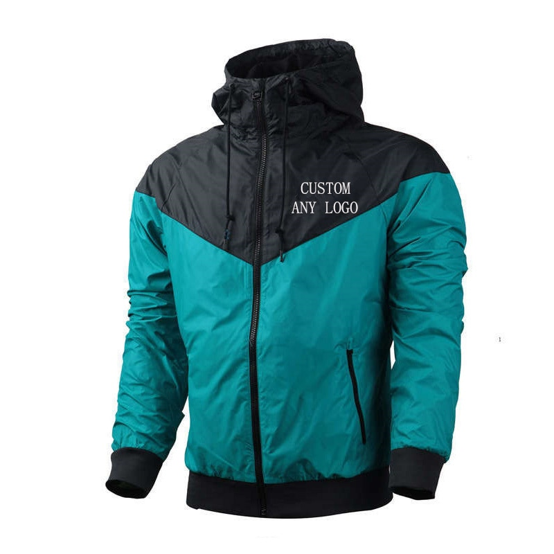 Мужская водонепроницаемая ветровка с логотипом на заказ, повседневная мужская одежда, осенние мужские куртки, 2021