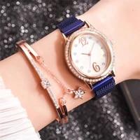 reloj de cuarzo con hebilla para mujer de acero inoxidable 10mm