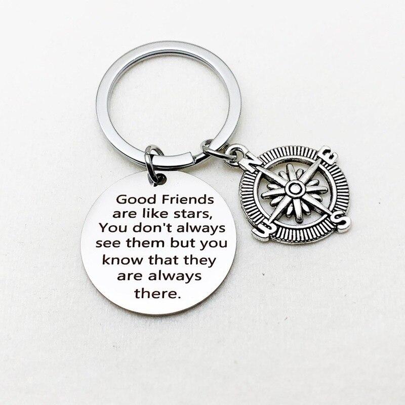 Oeinin Creative Keychain Man Good Friends Like Stars Key Chain Bags Boy Silver Color Key Ring Alloy Pendant Accessories Brelok