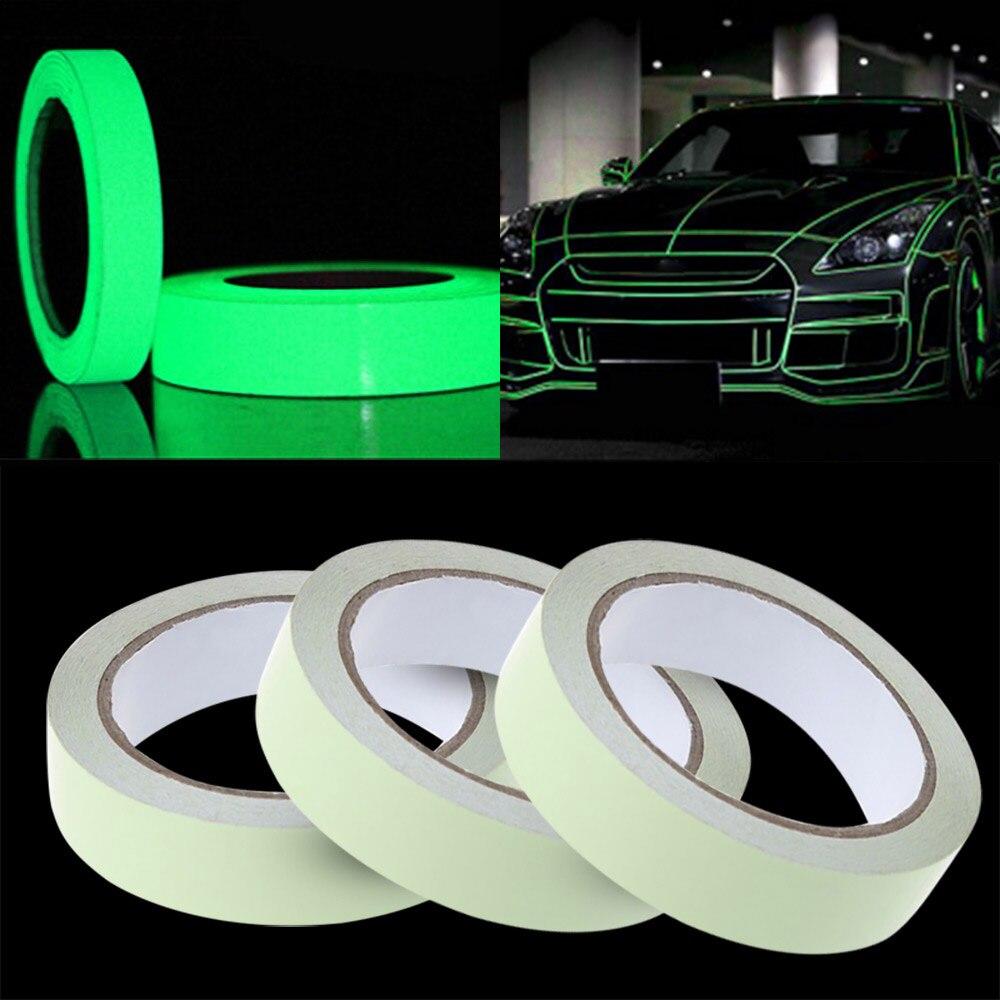 Cinta reflectante para coche pegatinas divertidas calcomanía DIY luz luminosa advertencia resplandor Noche Oscura cintas adhesivas seguridad fundas de coche accesorios