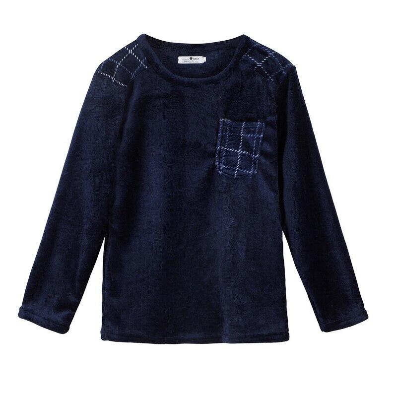 Conjuntopijamas de invierno para hombre% 2C pijamas gruesas franela +% 2C ropa de dormir de manga larga