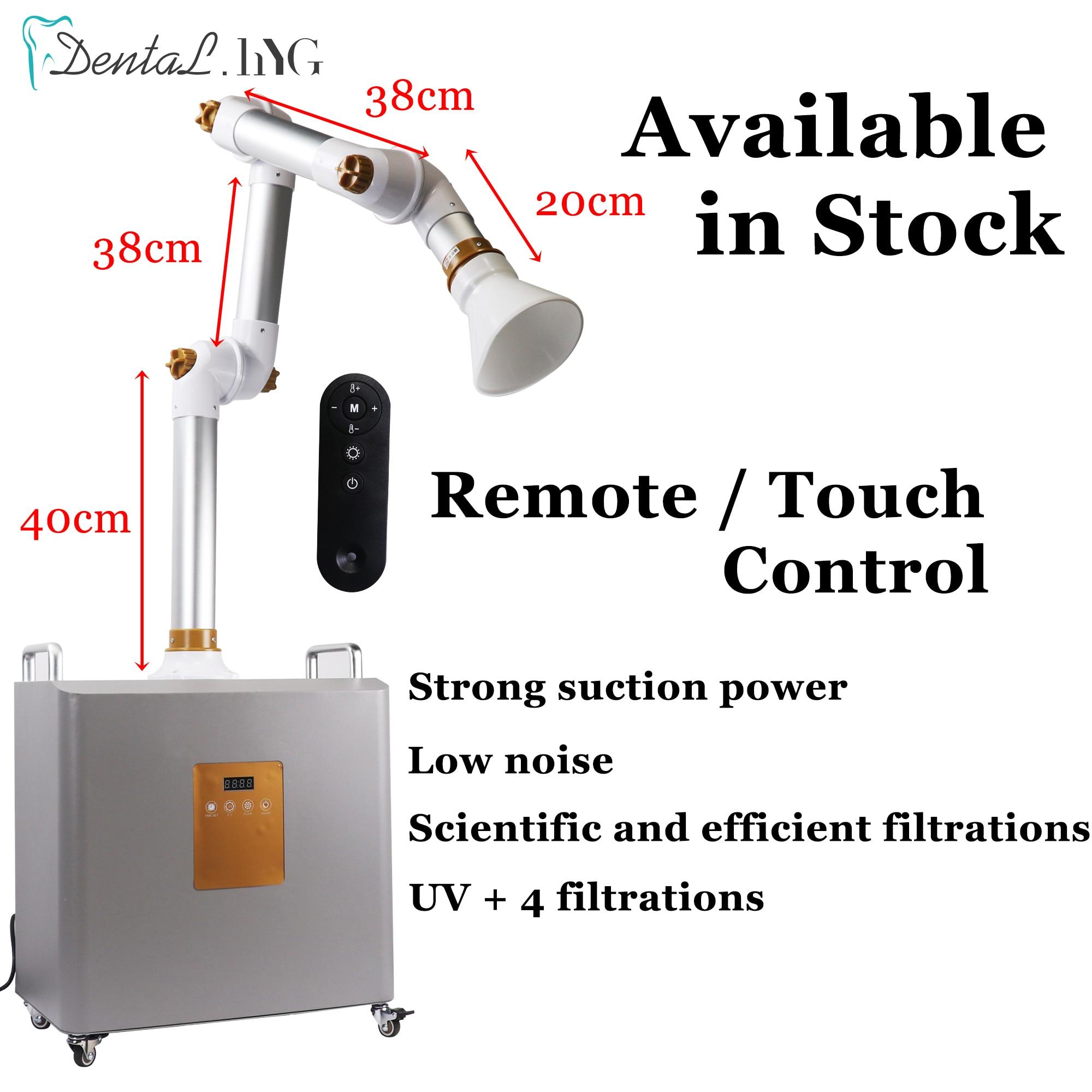 Dental Aerosol Suction Machine External Oral  Suction Unit Portable Suction Unit Machine UV light + 4 Filters