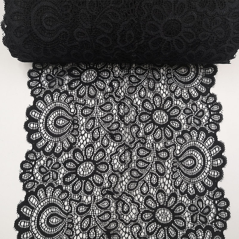 AliExpress - 22cm Black White Elastic Lace Fabric French Hollow Underwear DIY Crafts Sewing Suppies Decoration Accessories For Garments 1Yard