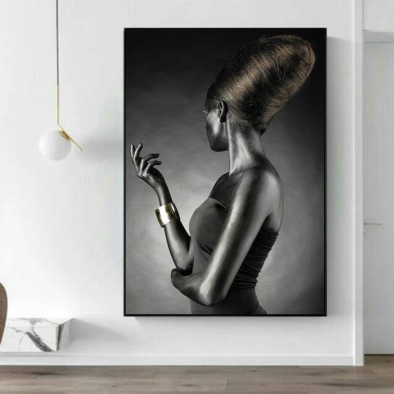 Mujer Afro arte para pared portarretrato lienzo impreso Multi chica Africana lienzo pinturas para oficina habitación decoración de la pared del hogar cuadros modulares