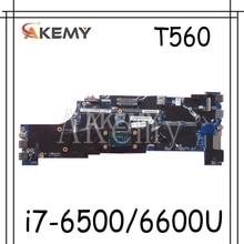 Akemy pour Lenovo ThinkPad T560 W560S P50S T560 Laotop carte mère T560 carte mère 01AY312 avec i7-6500U i7-6600 CPU