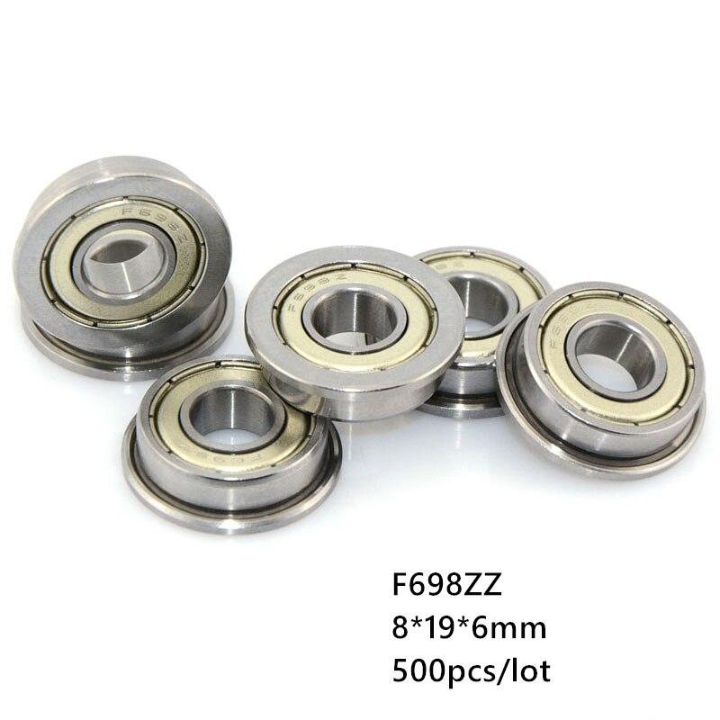 500 قطعة/الوحدة F698ZZ F698Z F698 Z ZZ F698-ZZ 8x19x6 مللي متر شفة أخدود عميق الكرة تحمل مصغرة مصغرة 8*19*6 مللي متر