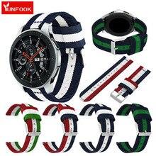 Reloj deportivo de nailon para hombre y mujer, correa para Samsung Galaxy Watch Active S3 Classic S4 46MM Smart 22mm, banda de tejido mágico de Honor