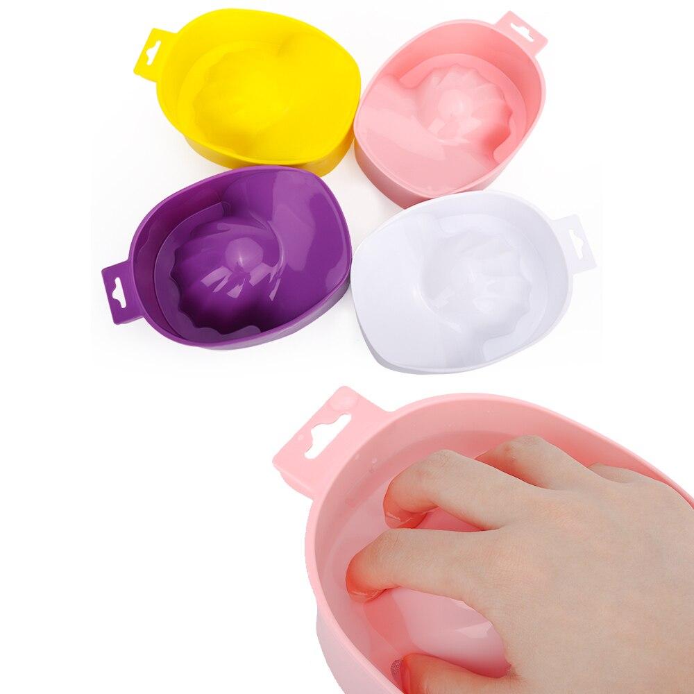 1pc Nail Art Hand Wash Remover Soak Bowl DIY Salon Nail Spa Bath Treatment Manicure Tools  Nail Salo