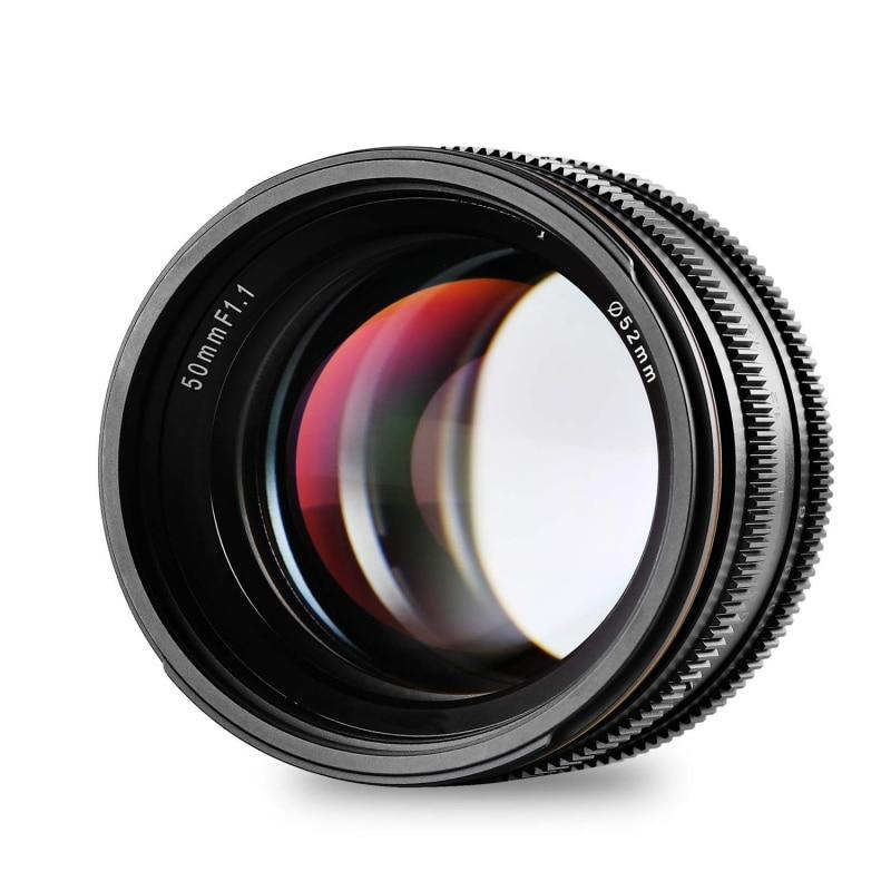 50mm F1.1 APS-C gran apertura Manual de enfoque de la lente para Canon de la ejecución nacional para Fuji X M4 EOS-M/3 Cámara montaje para cámara sin espejo