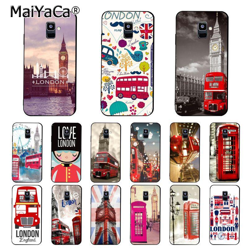 Maiyaca londres ônibus inglaterra telefone grande ben caso de telefone para samsung galaxy a7 a8 a6 plus a750 a9 2018 a50 a70 a20 a30 a40