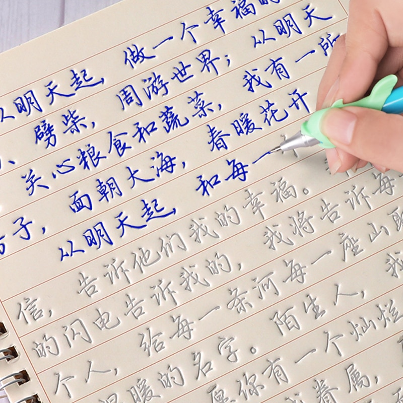 3D Reusable Groove Calligraphy Practice Copybook for Kids Chinese Characters Number Art Writing Books Children Exercise TextBook