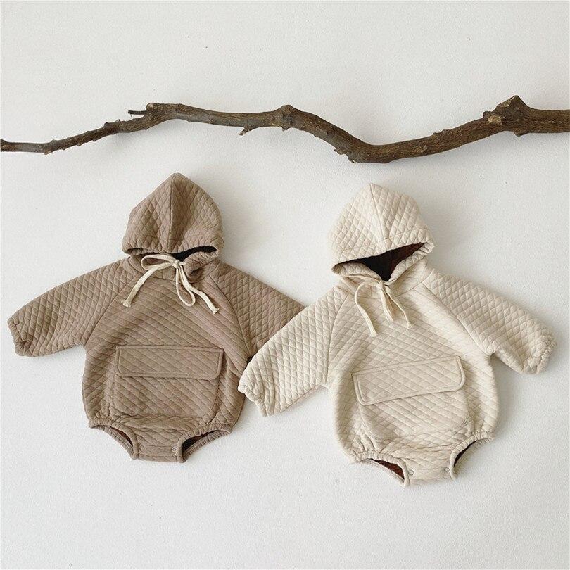 Bebé niño mameluco recién nacido ropa de bebé Invierno Polar con capucha bebé mono de niño bebé Mono para niño niña mameluco ropa