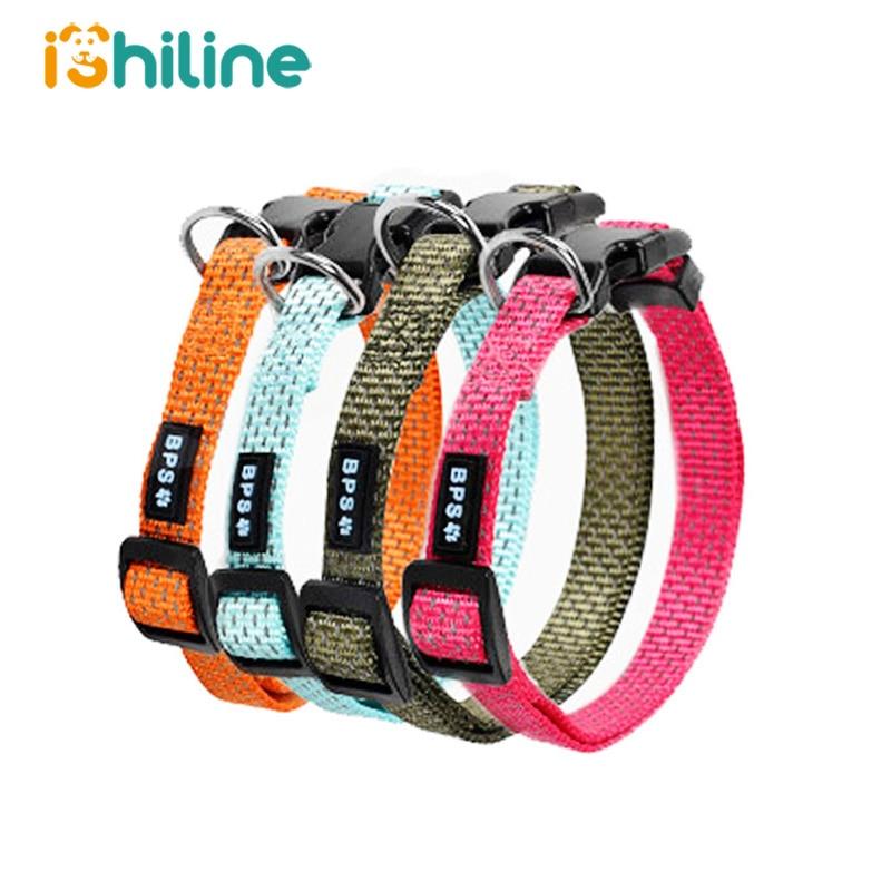 Medium and Large Dogs Nylon Pet Dog Collar Night Safety  Dogs Luminous Fluorescent Collars Pet Supplies Reflective Dog Collar Ma