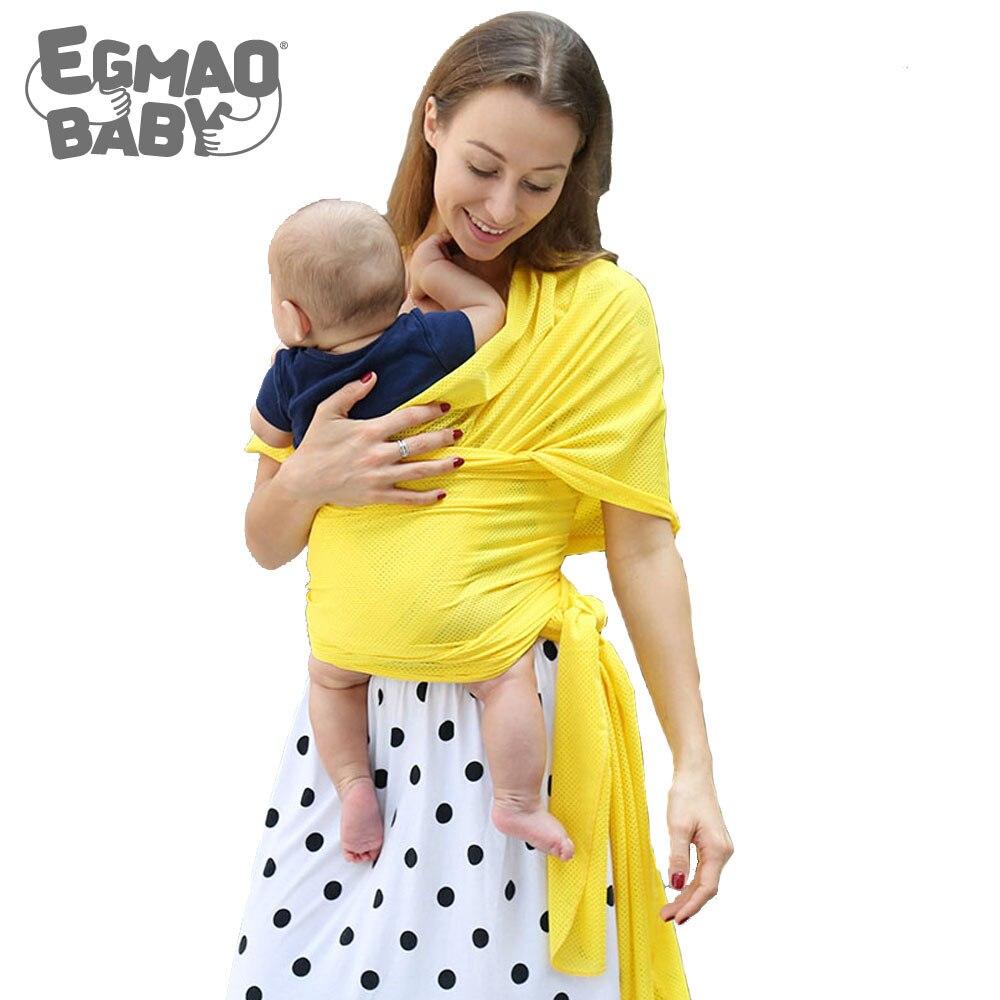 EGMAO/Детские Кенгуру для новорожденных, Детские слинг-переноска, пояс для переноски, тканевые Рюкзаки для переноски спереди, хлопок, ягода